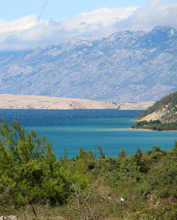 baie de Ljubac et île de Pag